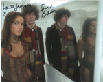 Tom Baker, Louise Jameson  -  Multi signed DOCTOR WHO Genuine Signed Autographs 10 x 8 COA 10271